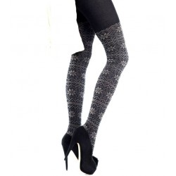 Nordic Print Cotton A26 Tights by Marilyn