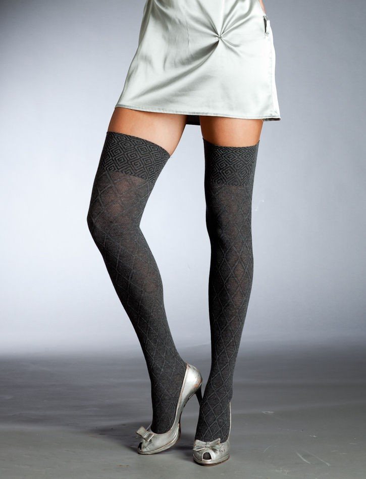 Over The Knee Socks. Over the knee or thigh high socks for the most part the same thing, depending on how tall you, it can be both, Typical over the knee socks come up to between 2 to 4 inches above the middle of your knee.