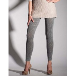 Cable Knit Footless Tights 2228 by Primavera
