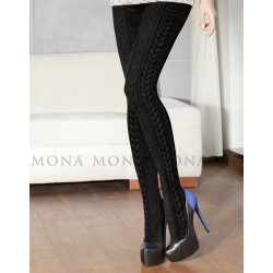 Mona Sol 38 Cable-Knit Tights