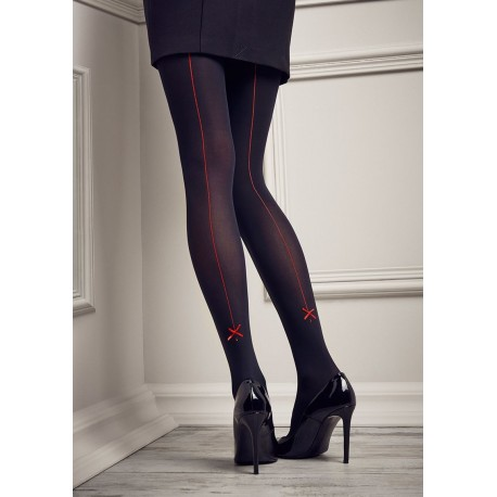 Gucci G18 Back-Seamed Low-Rise Tights