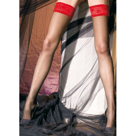 46b9bd27648 Rosy Red and Black Thigh-Highs by Trasparenze
