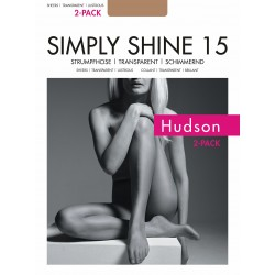 "Hudson ""Simply Shine 15"" 2-Pair Pantyhose"