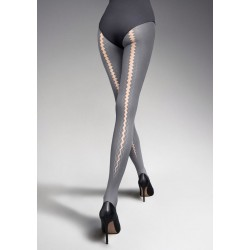 Nadia Back-Seam Pattern Tights
