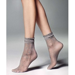 Galena Patterned Sheer Ankle Socks