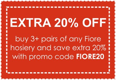 Save extra 20% on any 3 pairs of Fiore hosiery